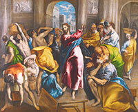 El Greco: Christ driving the Traders from the Temple
