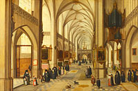 Hendrick van Steenwijck the Younger and Jan Brueghel the Elder: The Interior of a Gothic Church looking East (1)