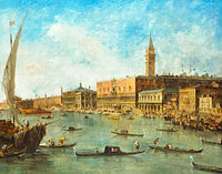 Francesco Guardi: Venice: The Doge's Palace and the Molo