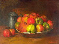 Gustave Courbet: Still Life with Apples and a Pomegranate