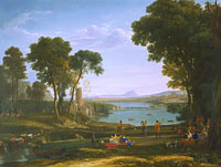 Claude Lorrain: Landscape with the Marriage of Isaac and Rebecca