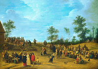 Unknown Painter, in the Style of David Teniers the Younger: A Country Festival near Antwerp