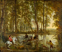 Jan Hackaert and Nicolaes Berchem: A Stag Hunt in a Forest