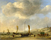 Willem van de Velde (II): The Shore at Scheveningen