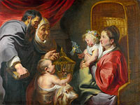 Jacob Jordaens (I): The Virgin and Child with Saint John and his Parents