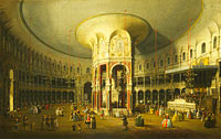 Canaletto: London: Interior of the Rotunda at Ranelagh