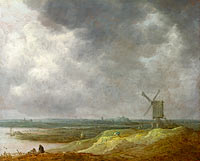 Jan van Goyen: A Windmill by a River