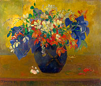 Paul Gauguin: A Vase of Flowers