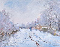 Claude Monet: Snow Scene at Argenteuil