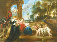 Peter Paul Rubens: The Holy Family with Saints in a Landscape