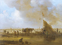 Jan van Goyen: A Scene on the Ice