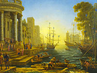 Claude Lorrain: Seaport with the Embarkation of Saint Ursula