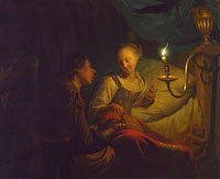 Godfried Schalcken: A Man Offering Gold and Coins to a Girl