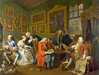 William Hogarth: Marriage A-la-Mode: 1, The Marriage Settlement
