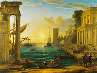 Claude Lorrain: Seaport with the Embarkation of the Queen of Sheba