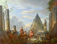 Giovanni Paolo Panini: Roman Ruins with Figures