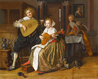 Jan Miense Molenaer: A Young Man and Woman making Music