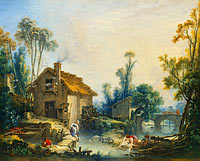 François Boucher: Landscape with a Watermill