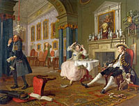 William Hogarth: Marriage A-la-Mode: 2, The Tête à Tête