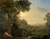 Claude Lorrain: Landscape with Narcissus and Echo