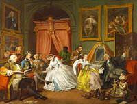 William Hogarth: Marriage A-la-Mode: 4, The Toilette