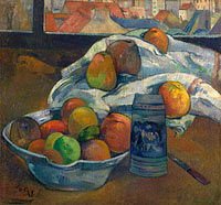 Поль Гоген: Bowl of Fruit and Tankard before a Window