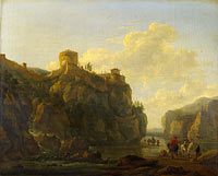 Lodewijck van Ludick: A River between Rocky Cliffs