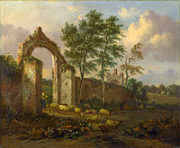 Jan Wijnants: A Landscape with a Ruined Archway