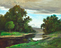 Unknown Painter, in the Style of Gustave Courbet: Landscape