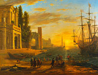 Claude Lorrain: A Seaport