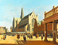 Gerrit Adriaensz. Berckheyde: The Market Place and the Grote Kerk at Haarlem