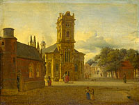 Jan van der Heyden: A Square before a Church