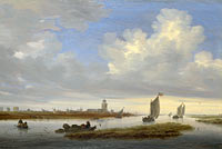 Salomon van Ruysdael: A View of Deventer seen from the North-West