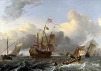 Ludolf Bakhuizen: The Eendracht and a Fleet of Dutch Men-of-war