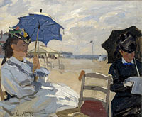 Claude Monet: The Beach at Trouville (2)