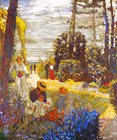 Édouard Vuillard: The Terrace at Vasouy, the Garden