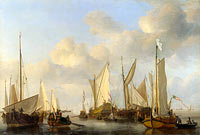 Willem van de Velde (II): A Dutch Yacht saluting