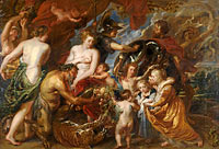 Peter Paul Rubens: Minerva protects Pax from Mars ('Peace and War')