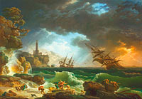 A Shipwreck in Stormy Seas