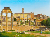 Christoffer Wilhelm Eckersberg: View of the Forum in Rome