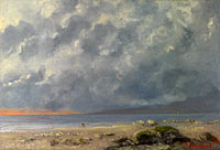 Gustave Courbet: Beach Scene