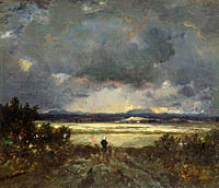 Théodore Rousseau: Sunset in the Auvergne