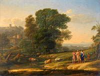 Клод Лоррен: Landscape with Cephalus and Procris reunited by Diana