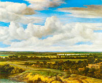 Филипп де Конинк: An Extensive Landscape with a Road by a River