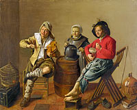 Jan Miense Molenaer: Two Boys and a Girl making Music