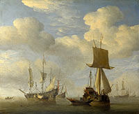 Виллем ван де Вельде (II): An English Vessel and Dutch Ships Becalmed