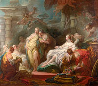 Jean-Honoré Fragonard: Psyche showing her Sisters her Gifts from Cupid