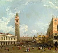 Canaletto: Venice: The Piazzetta from the Molo