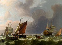 Ludolf Bakhuizen: Dutch Men-of-war off Enkhuizen
