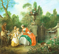 Nicolas Lancret: A Lady in a Garden taking Coffee with some Children